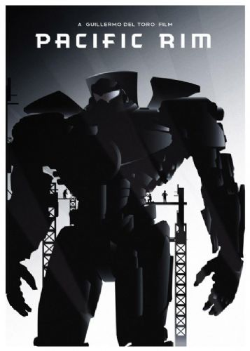 2010's Movie - PACIFIC RIM BLACKOUT POSTER canvas print - self adhesive poster - photo print